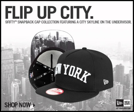 """New Era drop their """"Flip Up City"""" snap back collection and features a city  skyline on the undervisor with the respective city embroidered on the front  and ... 43e4a27fcf"""
